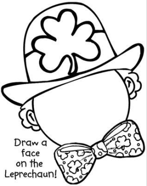 leprechaun-face-drawing-page