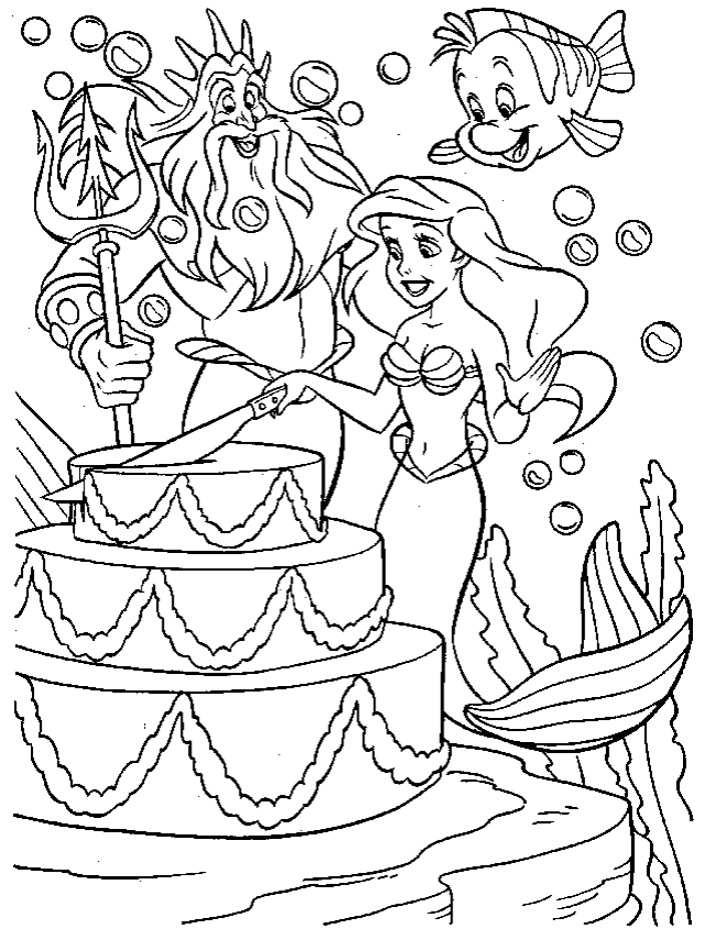 Printable little mermaid coloring page Coloringpagebookcom
