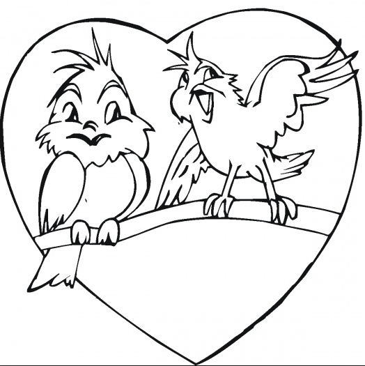 coloring pages love birds - photo#15