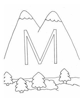 m-mountain-coloring-page