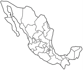 other popular coloring pages map of mexico
