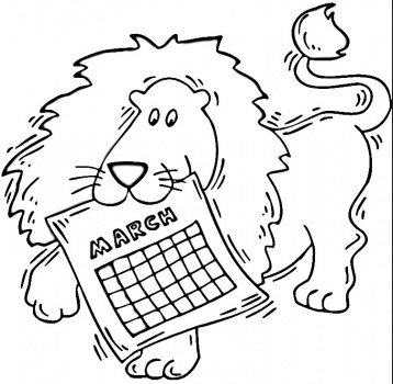March Coloring Page Amp Coloring Book