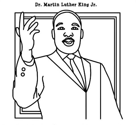 Martinlutherkingjr printable coloring pages for Martin luther king jr coloring pages