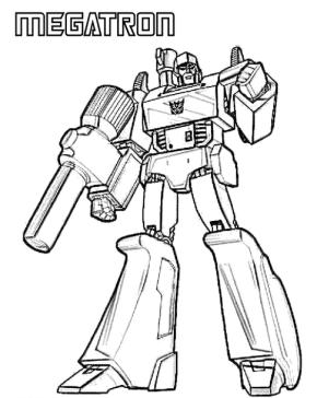 Transformers Megatron Coloring