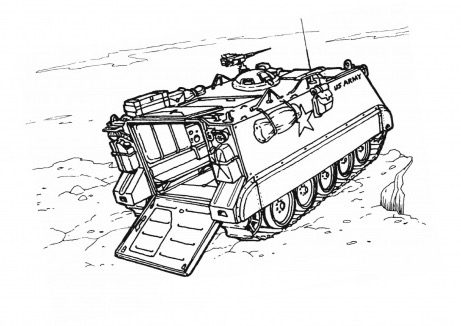 Military Vehicle Coloring Page Coloring Book