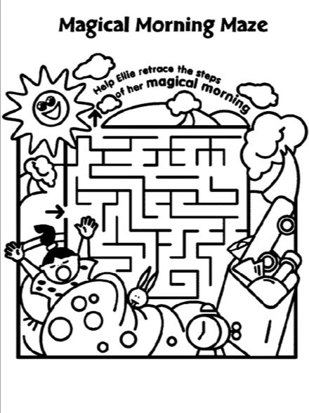Morning Printable Maze Amp Coloring Book