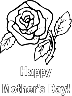 Mom Happy Mothers Day Coloring Page Mothers Day Flower Coloring