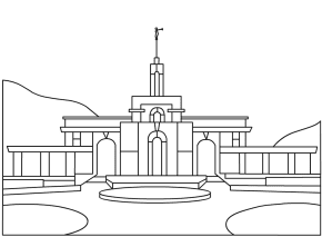 Temple Lds Temple Coloring Page Temple