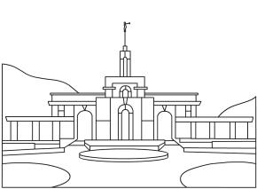 Temple Lds Temple Coloring Page Temple Lds Color Pages