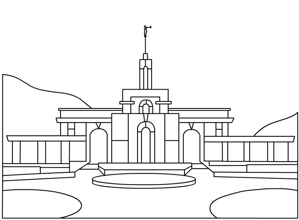 LDS Temple Coloring Page Coloring Book