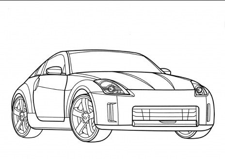 Nissangtr coloring page coloring book for Coloring pages nissan gtr