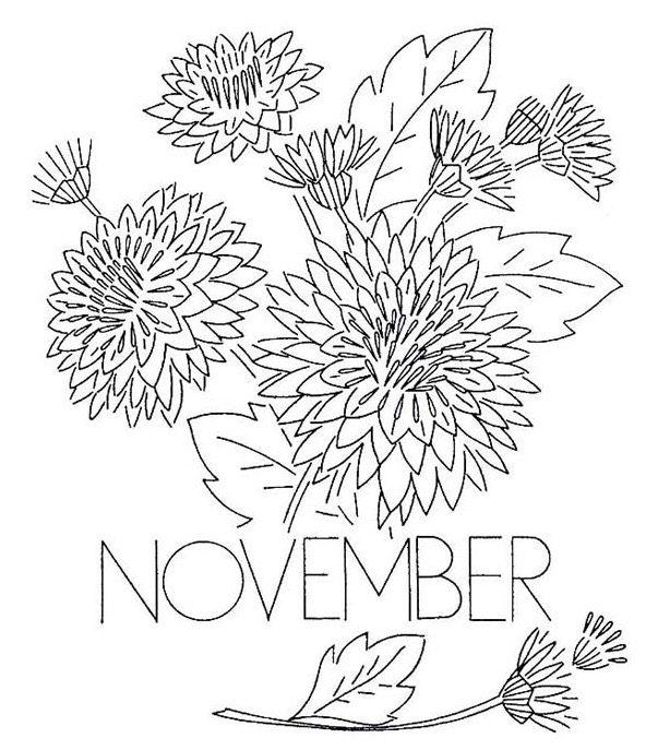 November Coloring Page & Coloring Book