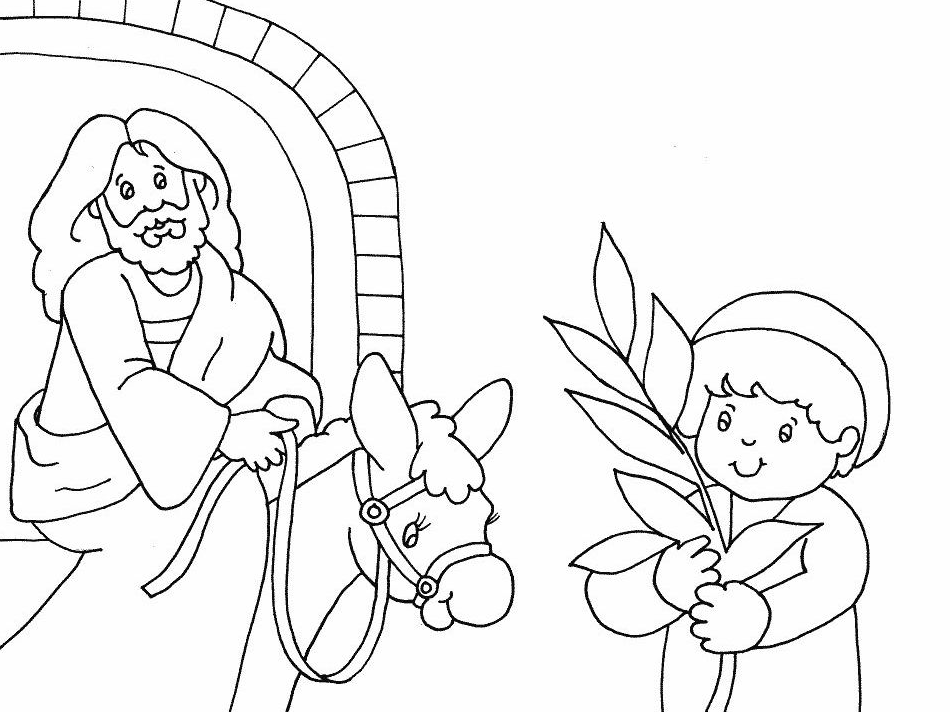 Palm Sunday Coloring Page Coloring Book