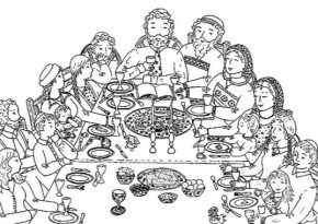 Free coloring pages and coloring book - Page 5 : Passover Feast ...