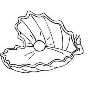 Pearls Coloring Page Book