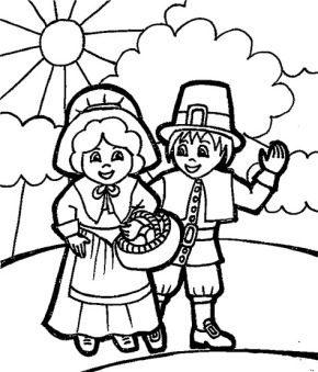 pilgrim-kids-coloring-page