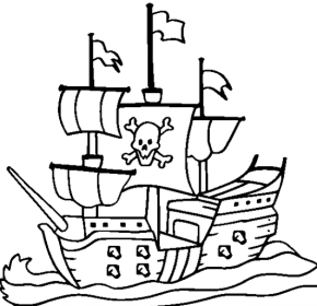 pirate ship coloring page sail_boat_coloring_page