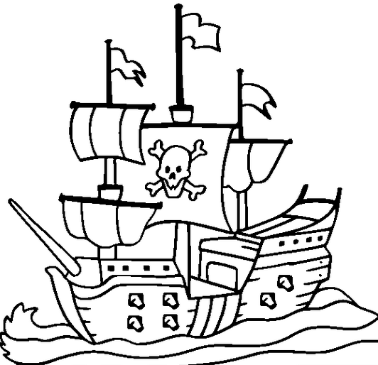 Printable pirateshipcoloringpage