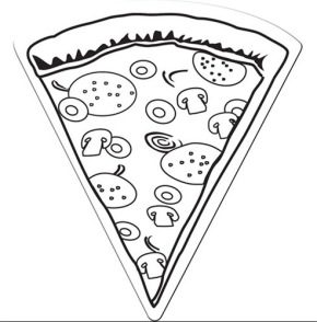 Food Drumstick Coloring Page Pizza Slice Coloring Page Pizza