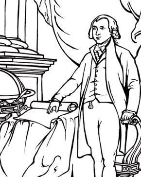 president-james-madison-coloring-page