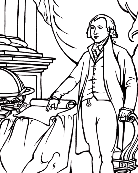 President James Madison Coloring Page