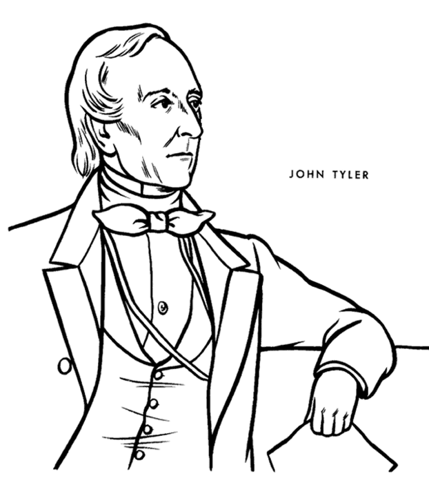 president john tyler coloring page