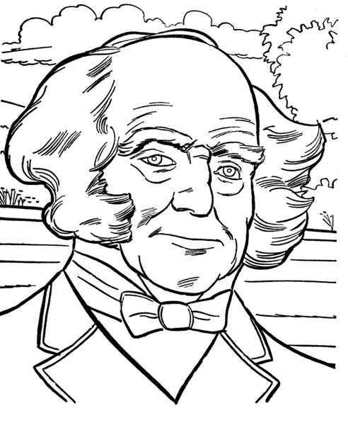 president-martin-van-buren-coloringpage