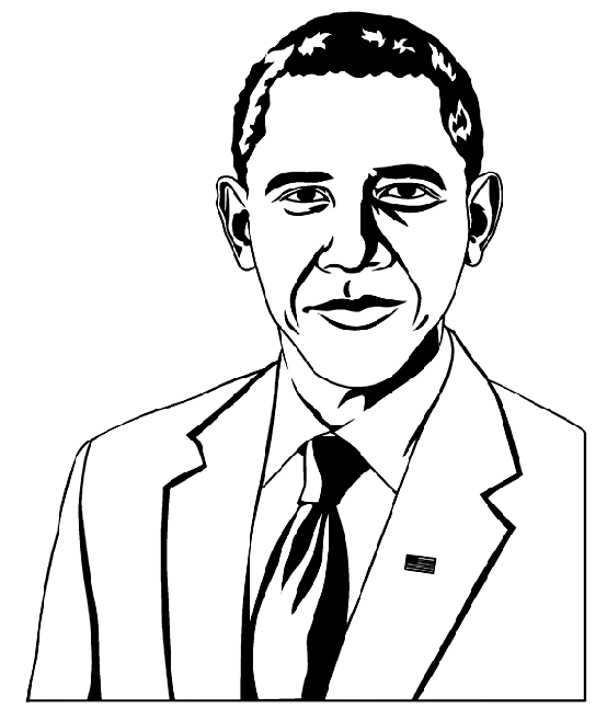 President Obama Coloring Page2 Amp Coloring Book