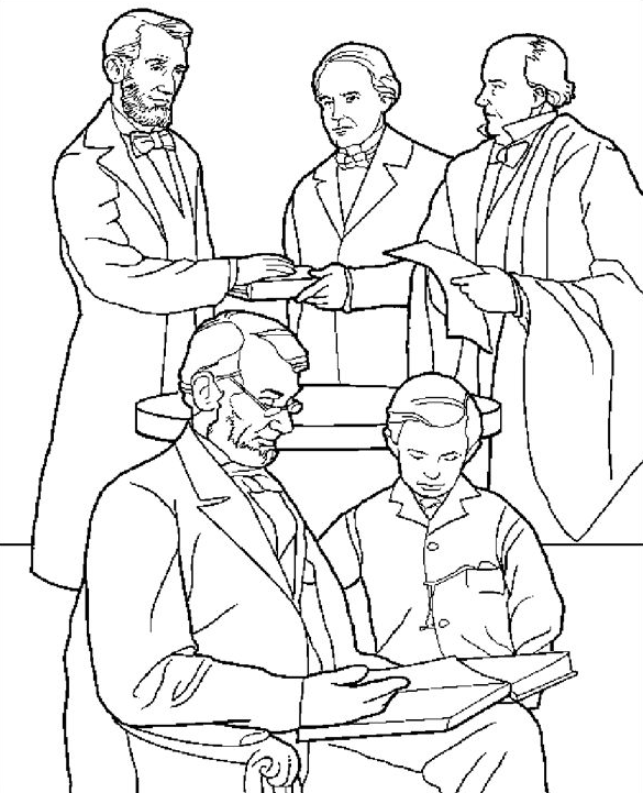 President\'s Day Coloring Page & Coloring Book