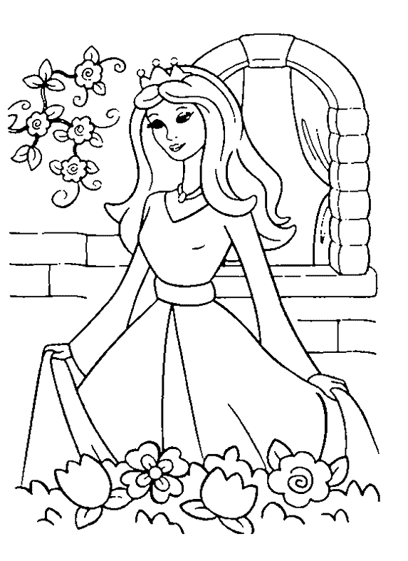Princess 5 Coloring Page