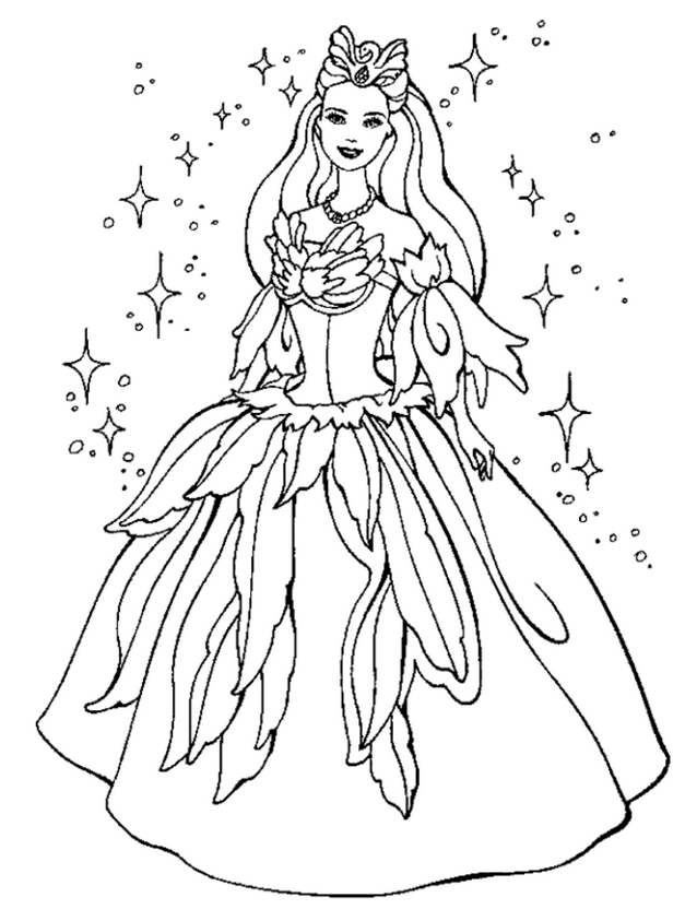 princess 6 coloring page - Coloring Pages Princess