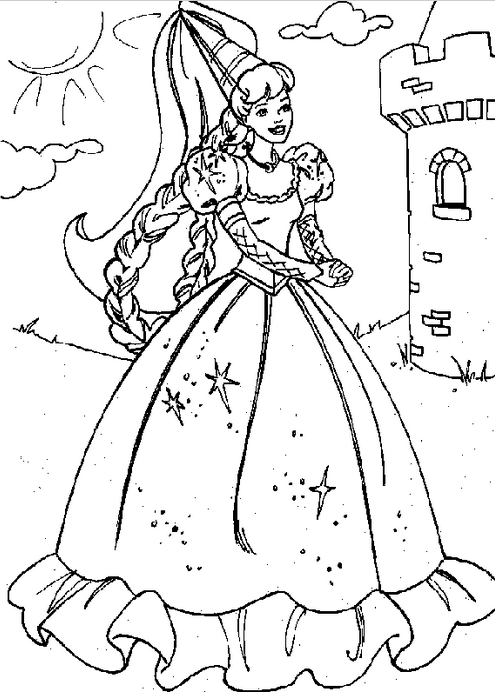 Coloring Castle Alphabet Pages : Princess castle coloring page book