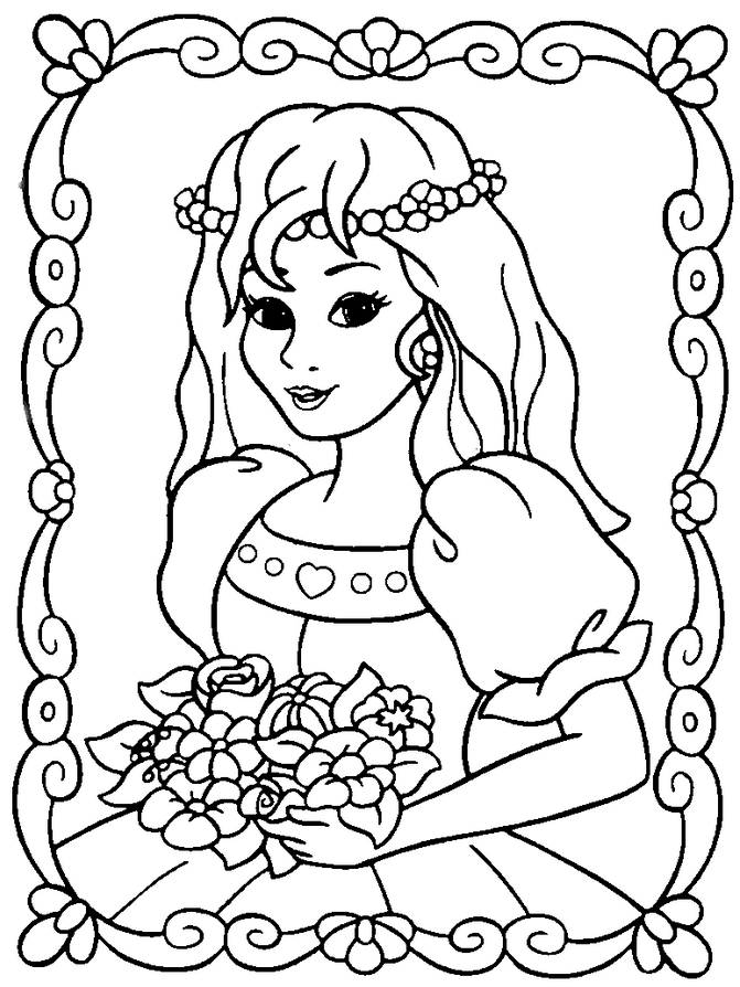 Amazing Princess Coloring Page