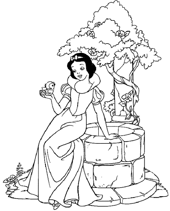 Princess Coloring Page Book