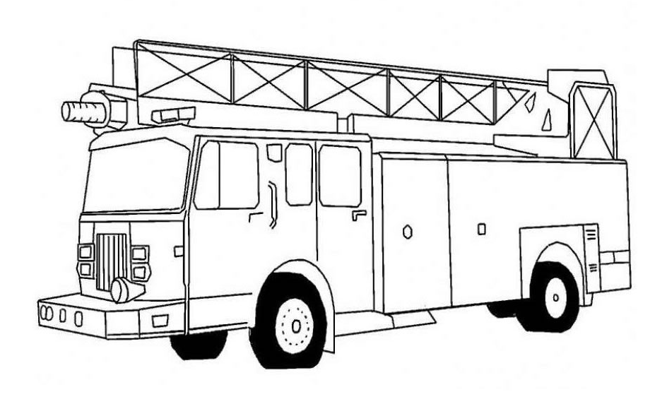 Printable Fire Truck Coloring Pages Coloring Book