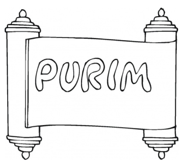purim-coloring-page