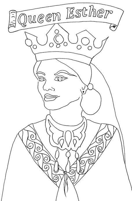 queen-esther-coloring-page