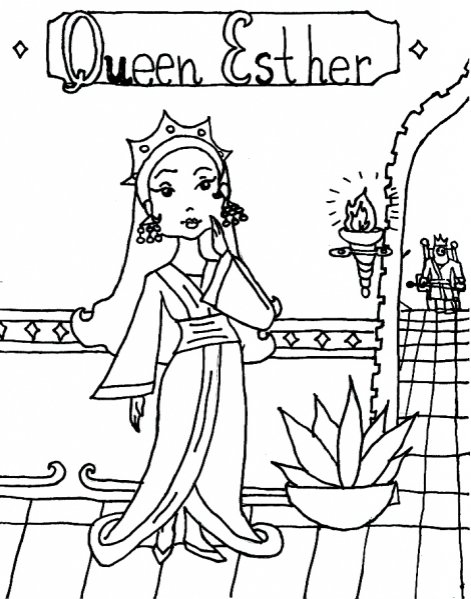 Queen Esther Coloring Page Coloring Book