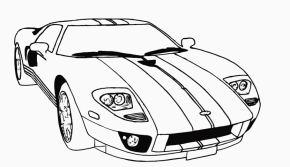 Race Car Coloring Page & Coloring Book