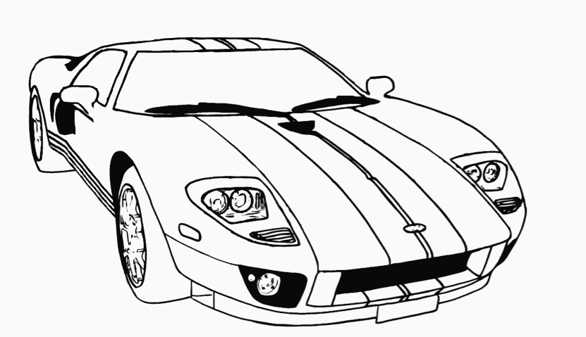 race car coloring page coloring book - Simple Car Coloring Pages