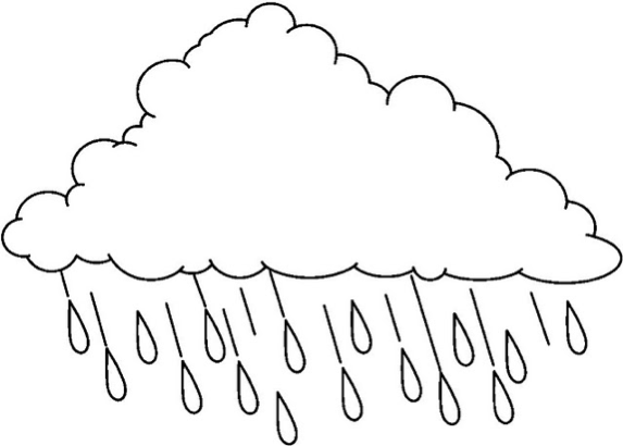 Cloud Coloring Pages Rain Cloud & Coloring Book