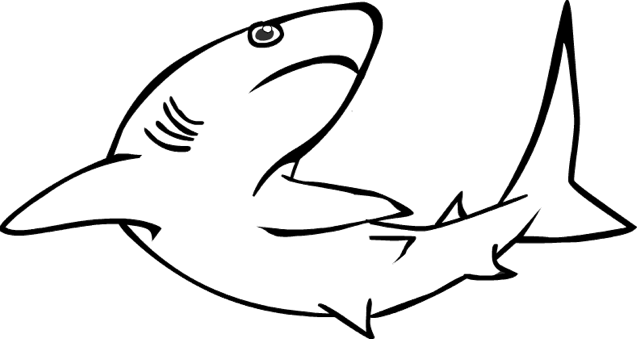 reef shark coloring page - Shark Coloring Book