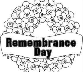 Remembrance  Remembrance Day Poppy Remembrance Day Coloring Page