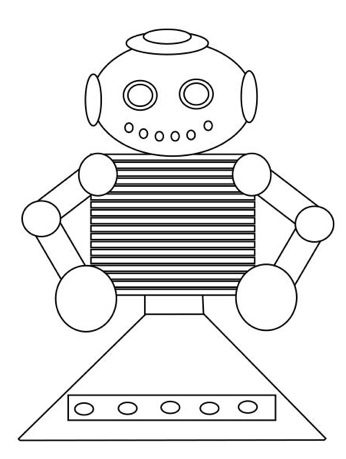 Cool Robot Coloring Page & Coloring Book