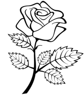 Flowers Tulips Coloring Page