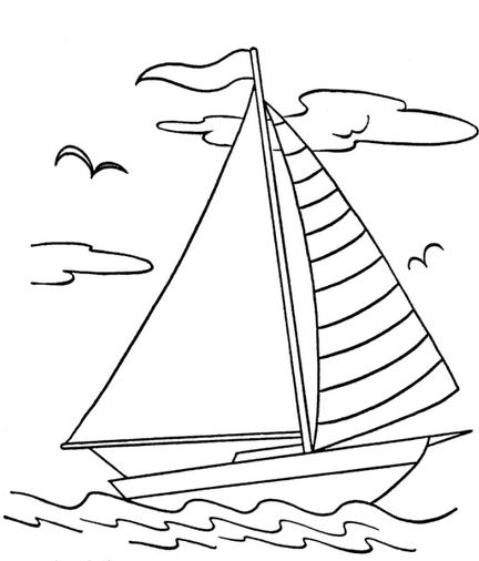 Sail Boat Coloring Page Amp Coloring Book