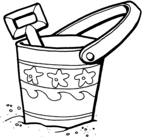 Sand Toys Coloring Page