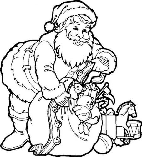 santa claus advertisement - Coloring Pages Santa
