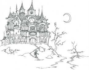 scary-haunted-house-coloring-page