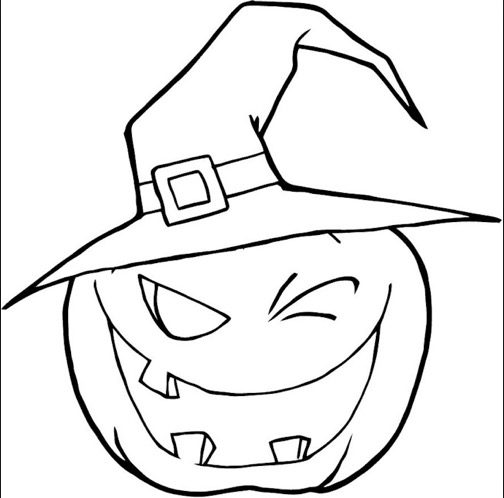 Scary Pumpkin Coloring Page Coloring Book